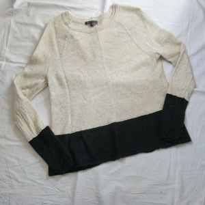 Vince color block cashmere sweater